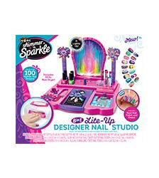 Shimmer 'n Sparkle - 8 in 1 Lite-Up Designer Nail Studio