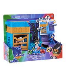 PJ Masks - PJ Masks Night Time Micros Trap & Escape Catboy & Romeo Playset