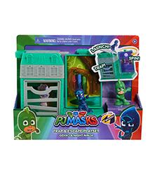 PJ Masks - PJ Masks Night Time Micros Trap & Escape Gekko & Night Ninja Playset