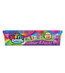 Softee Dough - Softee Dough Glitter 4 Pack