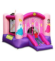 Happy Hop - Princess Bouncer with Slide & Hoop